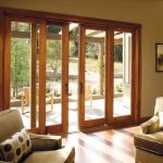 wood patio sliding door